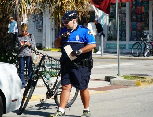 dicker polizist